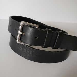 Banana Republic Mens Black Genuine Leather Belt 32